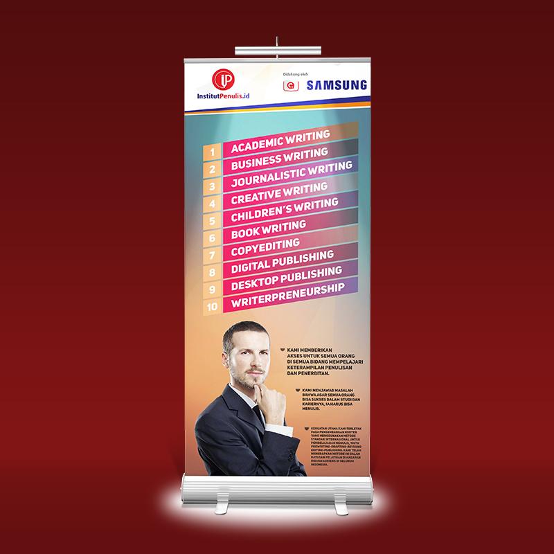 Institut Penulis Indonesia Roll Banner Design